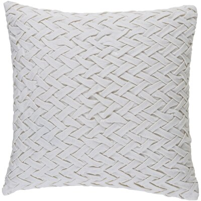 Krueger Down Throw Pillow Size: 18 H x 18 W x 4 D, Color: Ivory