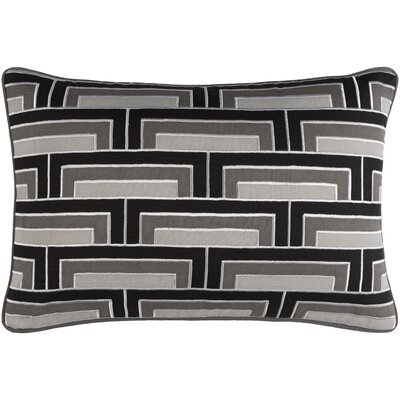 Balard Lumbar Pillow Color: Black/Gray/Ivory