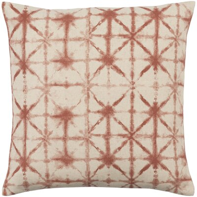 Middleton Throw Pillow Size: 20 H x 20 W x 4 D, Color: Rust/Beige