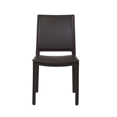 Darrin Side Chair Upholstery: Brown