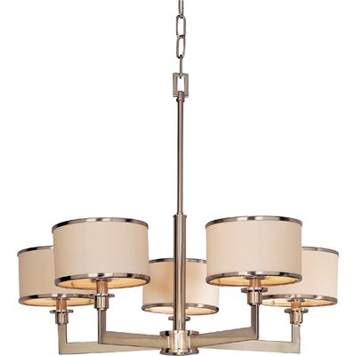 Darcia 5-Light Drum Chandelier Finish: Satin Nickel