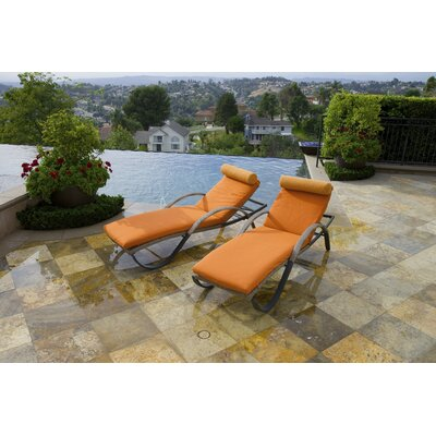 Cannes Chaise Lounge And Cushion Set Fabric Tikka picture