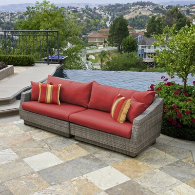 Alfonso 2 Piece Sofa with Cushions Fabric: Cantina Red