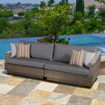 Alfonso 2 Piece Sofa with Cushions Fabric: Charcoal Grey