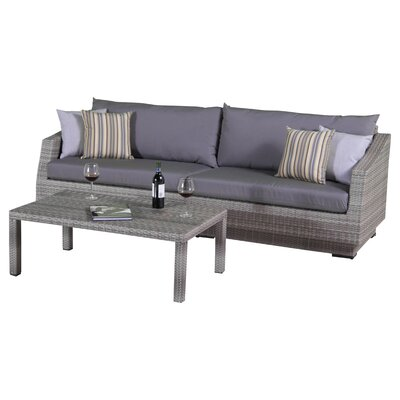 Cannes Setting Group Cushions Fabric Charcoal Grey picture