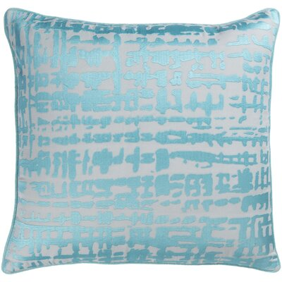 Mack Throw Pillow Size: 18 H x 18 W x 4 D, Color: Aqua/Light Gray