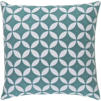 Veranda Throw Pillow Size: 18 H x 18 W x 4 D, Color: Aqua/Ivory