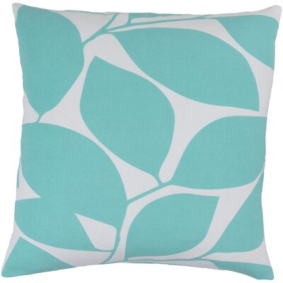 Cluff Cotton Throw Pillow Size: 22 H x 22 W x 4 D, Color: Aqua / Light Gray