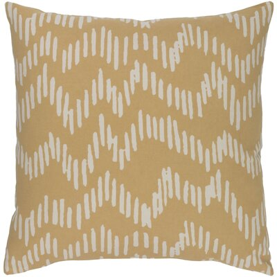 Ochoa Cotton Throw Pillow Size: 18 H x 18 W x 4 D, Color: Salmon/Beige