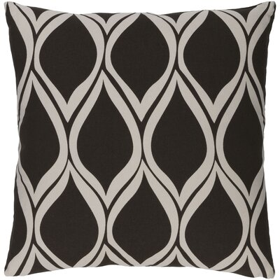 Ochoa Cotton Throw Pillow Size: 22 H x 22 W x 4 D, Color: Black/Light Gray