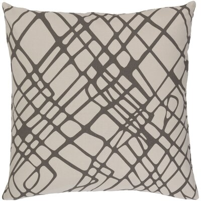Ochoa Down Throw Pillow Size: 18 H x 18 W x 4 D, Color: Gray/Ivory
