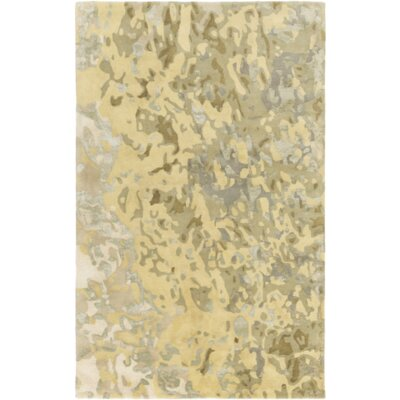 Ayanna Lime/Light Gray Area Rug Rug Size: 2 x 3