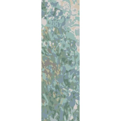 Ayanna Sea Foam / Teal Area Rug Rug Size: Runner 26 x 8