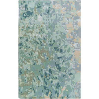 Ayanna Sea Foam / Teal Area Rug Rug Size: Rectangle 4 x 6