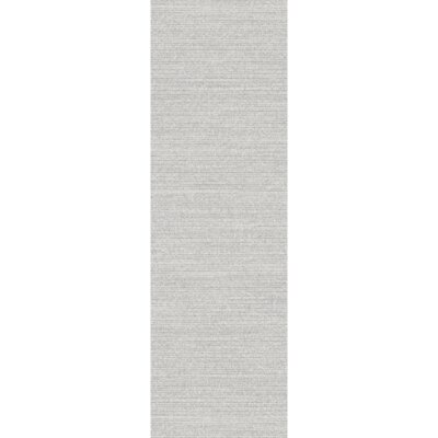 Ayers Hand-Loomed Gray Area Rug Rug Size: Runner 26 x 8