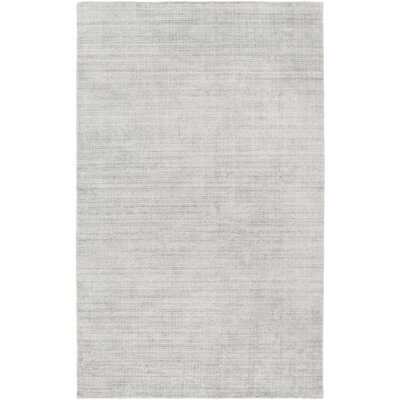 Ayers Hand-Loomed Gray Area Rug Rug Size: Rectangle 4 x 6