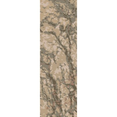 Ayanna Olive/Light Gray Area Rug Rug Size: Runner 26 x 8