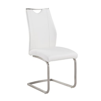 Bravo Side Chair Upholstery: White