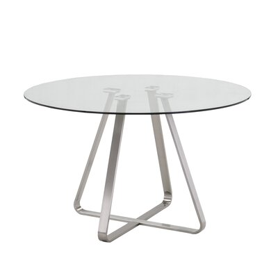 Cameo Dining Table Top Finish: Clear
