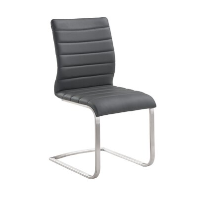 Fusion Side Chair Upholstery: Gray