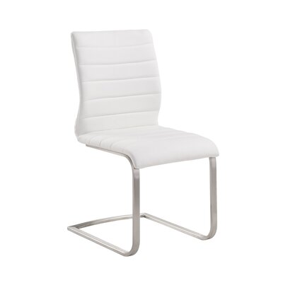 Fusion Side Chair Upholstery: White