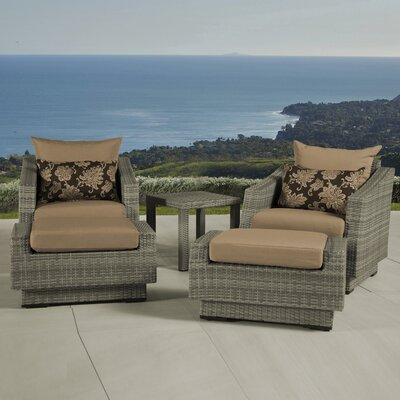 Alfonso 5 Piece Seating Group with Cushions Fabric: Delano Beige