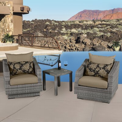 Alfonso 3 Piece Deep Seating Group with Cushion Fabric: Delano Beige