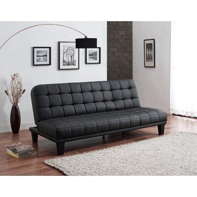 Malone Convertible Sofa Upholstery: Black