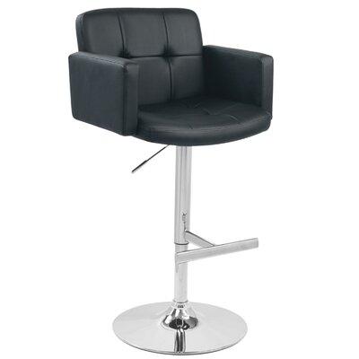 Limpley Stoke Swivel Bar Stool Upholstery: Black