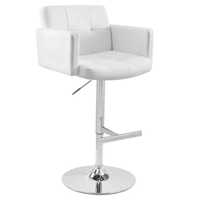 Aurora Swivel Bar Stool Upholstery: White