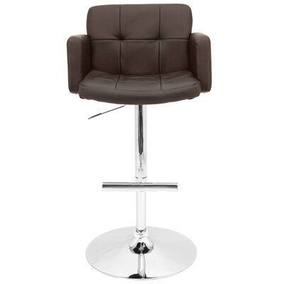 Limpley Stoke Swivel Bar Stool Upholstery: Brown