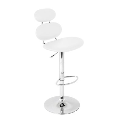 Leigh Woods Adjustable Height Swivel Bar Stool with Cushion