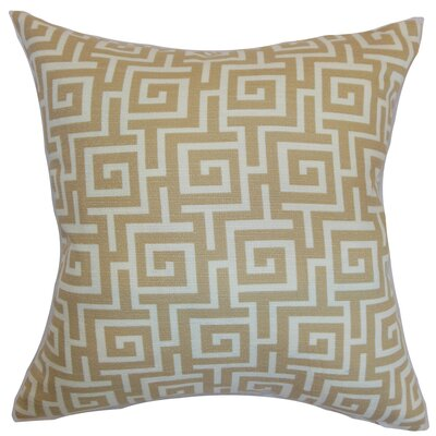Arthurs Cotton Throw Pillow Color: Rattan, Size: 22 x 22
