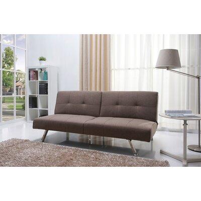 Wade Logan WADL2688 25983364 Reily Leatherette Futon Sleeper Sofa Upholstery