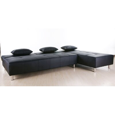 Ricardo Reversible Sectional Upholstery: Black