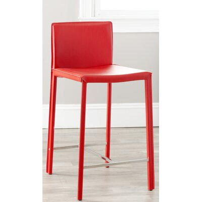 Gibbs 24 Bar Stool (Set of 2) Finish: Red