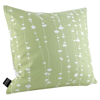 Hames Linen Throw Pillow Size: 18 x 18, Color: Celery
