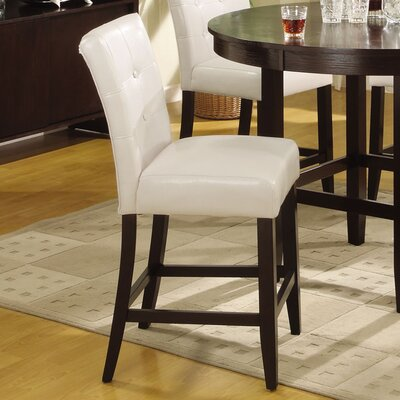 Christensen 24 Bar Stool Upholstery: White