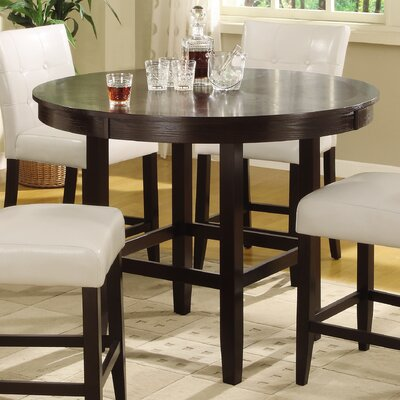 Ekstrom Round Counter Height Dining Table in Dark Chocolate