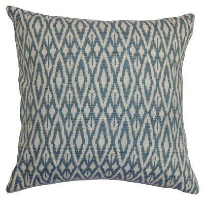 Garner Cotton Throw Pillow Color: Denim, Size: 20 x 20