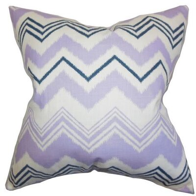 Coldwell Zigzag Cotton Throw Pillow Color: Purple, Size: 18 H x 18 W