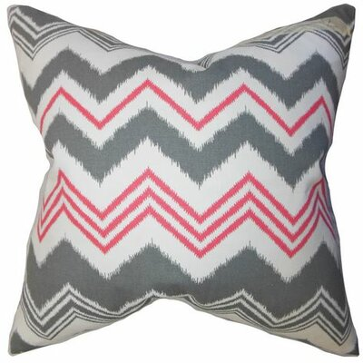 Coldwell Zigzag Cotton Throw Pillow Color: Gray, Size: 18 H x 18 W