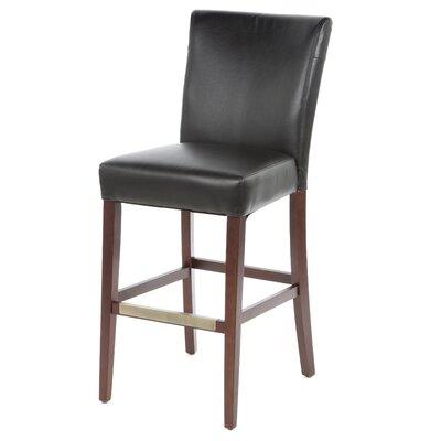 Larkhall 30.25 Bar Stool Upholstery: Black