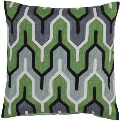 Chew Stoke Retro Modern Cotton Throw Pillow Size: 18 H x 18 W, Color: Green, Filler: Polyester