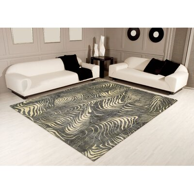 Charlisa Gray/Beige Area Rug Rug Size: Rectangle 3'6