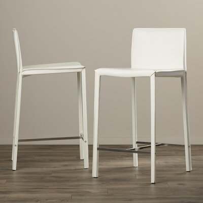 Gibbs 24 Bar Stool (Set of 2) Finish: White