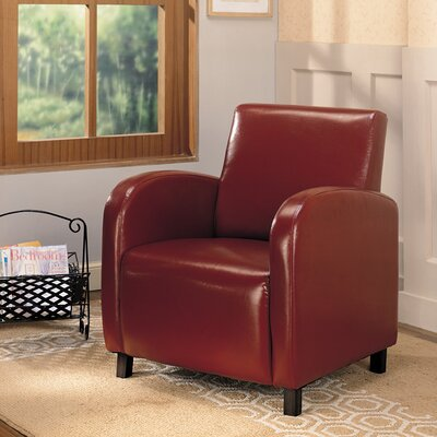 Leigh upon Mendip Armchair Color: Red