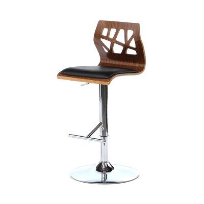 Dallas Swivel Adjustable Height Bar Stool Upholstery: Walnut / Black