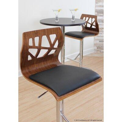 Little Badminton Swivel Bar Stool Upholstery: Walnut / Black