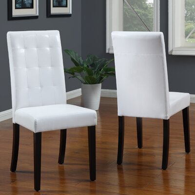 Baer Parsons Chair Upholstery: White